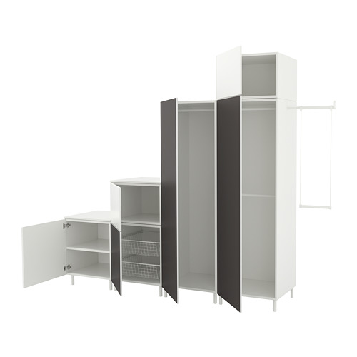 PLATSA - wardrobe, white Fonnes/Skatval dark grey | IKEA Hong Kong and Macau - PE672725_S4