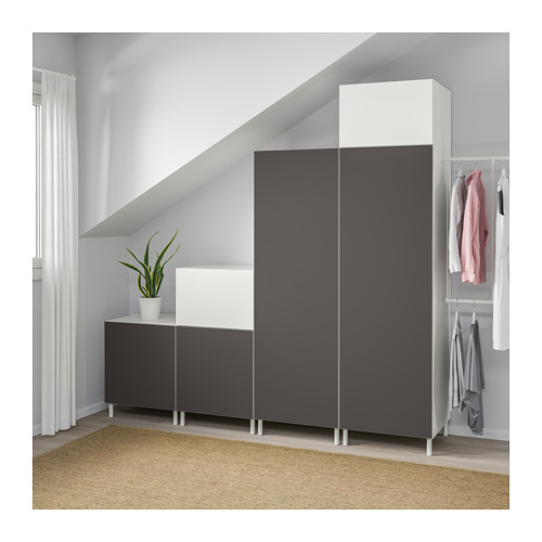PLATSA - wardrobe, white Fonnes/Skatval dark grey | IKEA Hong Kong and Macau - PE672726_S4