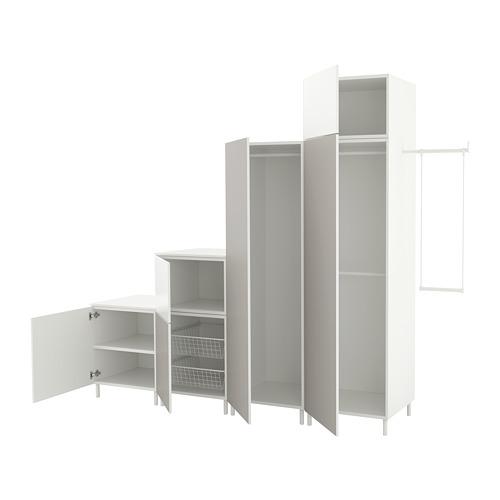 PLATSA - wardrobe, white Fonnes/Skatval light grey | IKEA Hong Kong and Macau - PE672729_S4