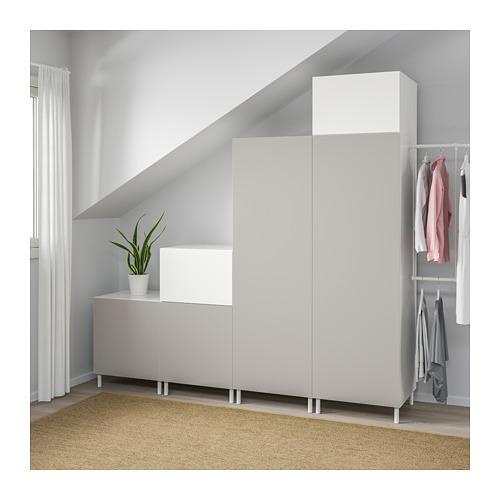 PLATSA - wardrobe, white Fonnes/Skatval light grey | IKEA Hong Kong and Macau - PE672731_S4