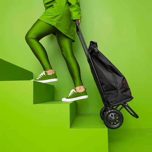 RADARBULLE - shopping bag on wheels, 38L, black | IKEA Hong Kong and Macau - PE817646_S4
