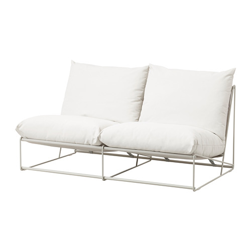 HAVSTEN - 2-seat sofa, in/outdoor, without armrests/beige | IKEA Hong Kong and Macau - PE672789_S4