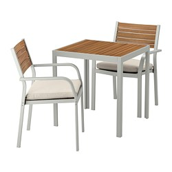 SJÄLLAND - 戶外檯凳組合, 淺褐色/Frösön/Duvholmen 米黃色 | IKEA 香港及澳門 - PE672861_S3