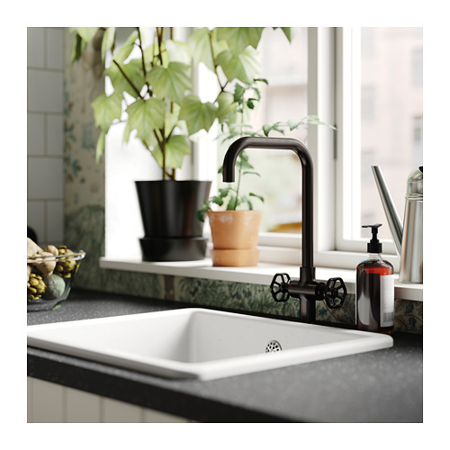GAMLESJÖN - 雙控廚房冷熱水龍頭, 刷面金屬黑色 | IKEA 香港及澳門 - PH154252_S4