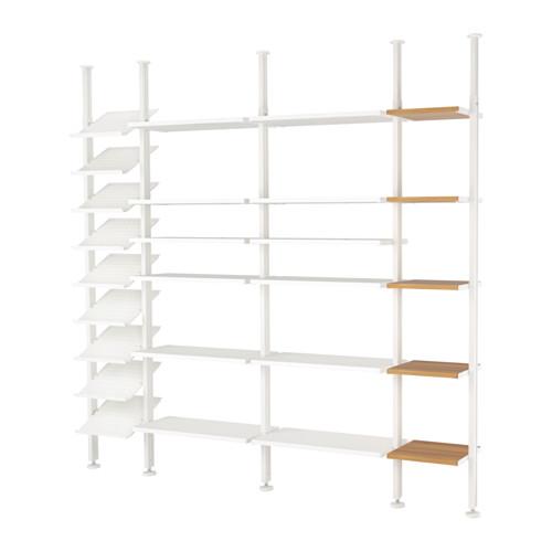 ELVARLI - 4 sections, white/bamboo | IKEA Hong Kong and Macau - PE622976_S4