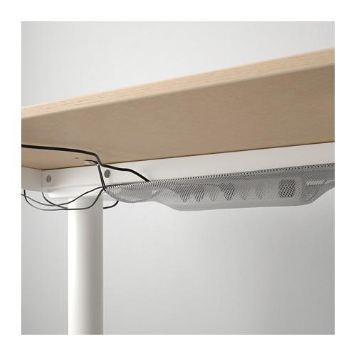 BEKANT - 升降式書檯, 160x80cm, 染白橡木飾面/白色 | IKEA 香港及澳門 - PE722305_S4