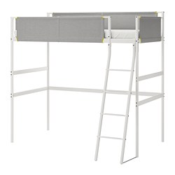 VITVAL - loft bed frame, white/light grey | IKEA Hong Kong and Macau - PE722324_S3