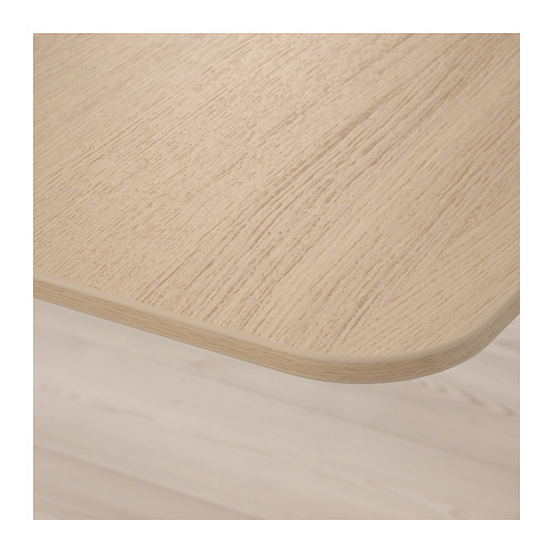 BEKANT - 升降式書檯, 160x80cm, 染白橡木飾面/白色 | IKEA 香港及澳門 - PE722334_S4