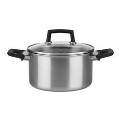 HUVUDRÄTT - 連蓋鍋3.5 升, 不銹鋼/玻璃 | IKEA 香港及澳門 - PE763506_S3