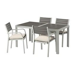 SJÄLLAND - 戶外檯連扶手椅組合, 深灰色/Frösön/Duvholmen 米黃色   IKEA 香港及澳門 - PE672992_S3