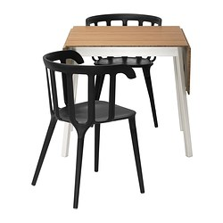 IKEA PS 2012/IKEA PS 2012 - table and 2 chairs, bamboo/black | IKEA Hong Kong and Macau - PE341209_S3