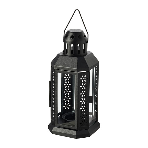 ENRUM - 燭燈燭台,室內/戶外用, 黑色   IKEA 香港及澳門 - PE782042_S4
