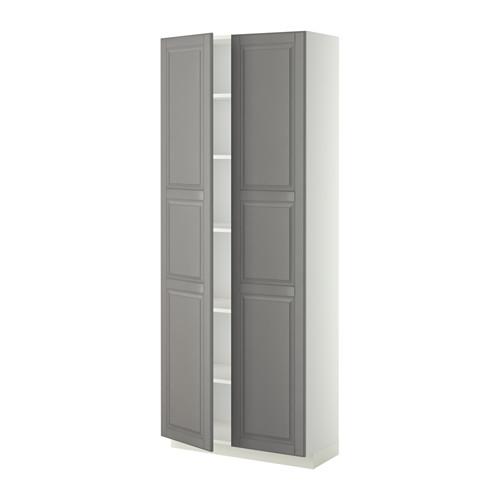 METOD - high cabinet with shelves, white/Bodbyn grey   IKEA Hong Kong and Macau - PE340241_S4