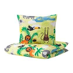DJUNGELSKOG - quilt cover and pillowcase, animal/green | IKEA Hong Kong and Macau - PE722444_S3