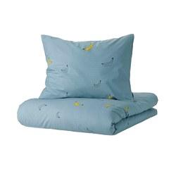 VÄNKRETS - quilt cover and pillowcase, banana pattern blue   IKEA Hong Kong and Macau - PE818124_S3