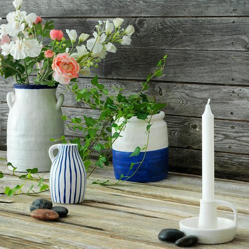 GODTAGBAR - 花瓶, 陶瓷 白色/藍色 | IKEA 香港及澳門 - PE763651_S4