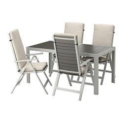 SJÄLLAND - table+4 reclining chairs, outdoor, dark grey/Frösön/Duvholmen beige | IKEA Hong Kong and Macau - PE674097_S3