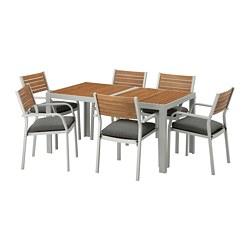 SJÄLLAND - 戶外檯連扶手椅組合, 淺褐色/Frösön/Duvholmen 深灰色   IKEA 香港及澳門 - PE673111_S3