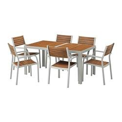 SJÄLLAND - 戶外檯連扶手椅組合, 淺褐色/淺灰色   IKEA 香港及澳門 - PE673115_S3
