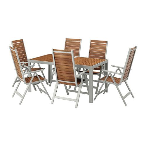 SJÄLLAND - 戶外檯連躺椅組合, 淺褐色/淺灰色 | IKEA 香港及澳門 - PE673120_S4