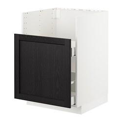 METOD/MAXIMERA - BREDSJÖN星盆用地櫃/1面板/2抽屜, white/Lerhyttan black stained | IKEA 香港及澳門 - PE722557_S3