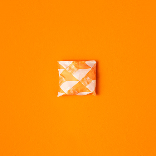 SKYNKE - 購物袋, 45x36 cm, 白色/橙色 | IKEA 香港及澳門 - PE818196_S4