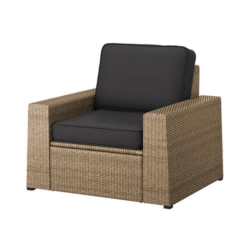 SOLLERÖN - 戶外扶手椅, brown/Järpön/Duvholmen anthracite | IKEA 香港及澳門 - PE763693_S4