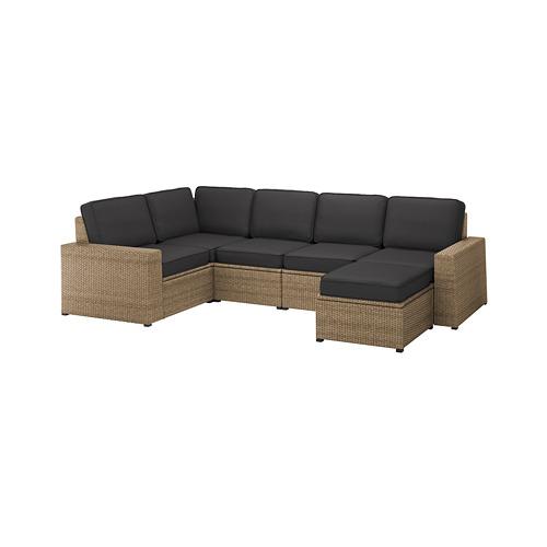 SOLLERÖN - 戶外四座位角位組合式梳化, with footstool brown/Järpön/Duvholmen anthracite | IKEA 香港及澳門 - PE763729_S4