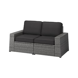 SOLLERÖN - 2-seat modular sofa, outdoor, dark grey/Järpön/Duvholmen anthracite | IKEA Hong Kong and Macau - PE763734_S3