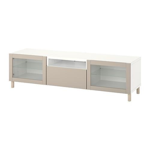 BESTÅ - TV bench, white Sindvik/Lappviken/Mejarp light grey/beige   IKEA 香港及澳門 - PE818223_S4