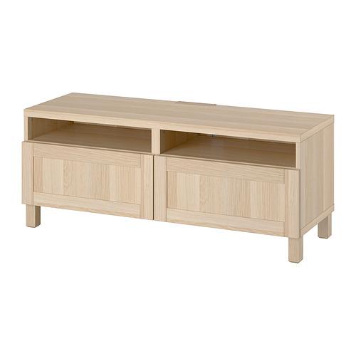 BESTÅ - 電視几連抽屜, white stained oak effect/Hanviken/Stubbarp white stained oak effect   IKEA 香港及澳門 - PE818228_S4