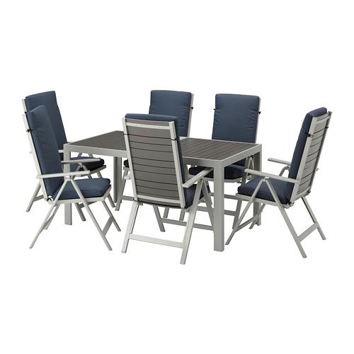 SJÄLLAND - 戶外檯連躺椅組合, 深灰色/Frösön/Duvholmen 藍色 | IKEA 香港及澳門 - PE673266_S4
