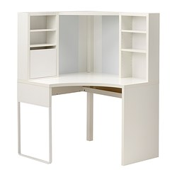 MICKE - corner workstation, width 100 x depth 100cm, white | IKEA Hong Kong and Macau - PE343559_S3