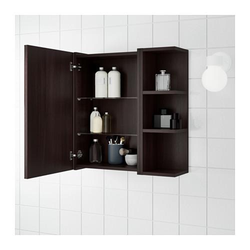 LILLÅNGEN - 單門鏡櫃連1邊櫃, 棕黑色 | IKEA 香港及澳門 - PE623427_S4