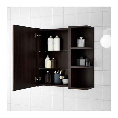 LILLÅNGEN - mirror cabinet 1 door/2 end units, black-brown | IKEA Hong Kong and Macau - PE623428_S4