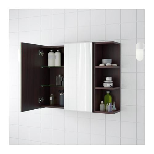 LILLÅNGEN - mirror cabinet 2 doors/1 end unit, black-brown | IKEA Hong Kong and Macau - PE623435_S4