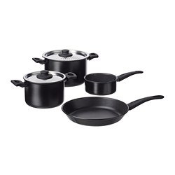 HEMLAGAD - 煮食用具,6件套裝, 黑色 | IKEA 香港及澳門 - PE763784_S3