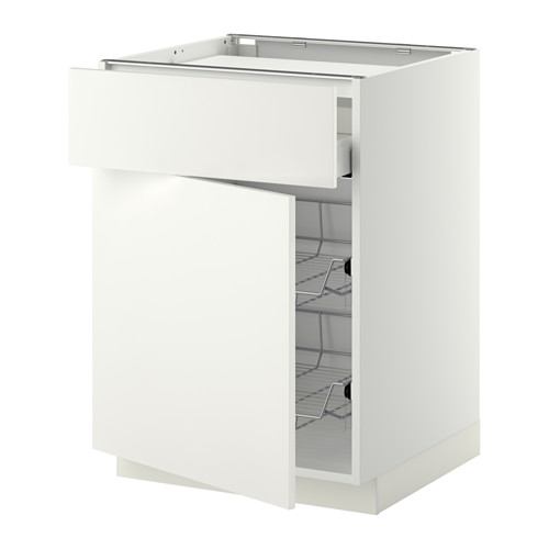 METOD/MAXIMERA base cab f hob/drawer/2 wire bskts