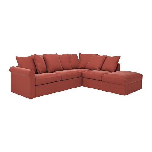 GRÖNLID - 4座位角位梳化床, 開放式/Ljungen 淺紅色   IKEA 香港及澳門 - PE782193_S4