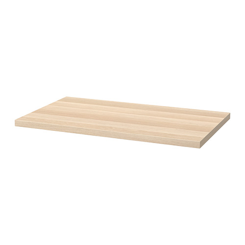LINNMON - table top, 100x60cm, white stained oak effect   IKEA Hong Kong and Macau - PE818385_S4