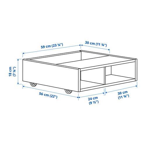 FREDVANG - underbed storage/bedside table, white | IKEA 香港及澳門 - PE818468_S4
