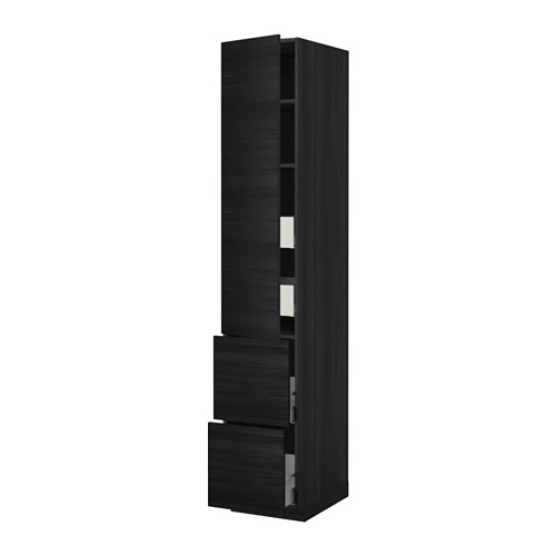 METOD 高櫃連層板/4抽屜/單門/2塊面板