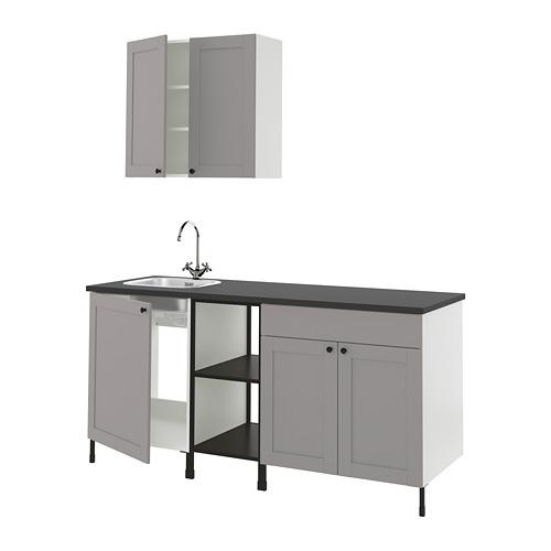 ENHET - 廚房, 炭黑色/灰色 框架 | IKEA 香港及澳門 - PE818466_S4