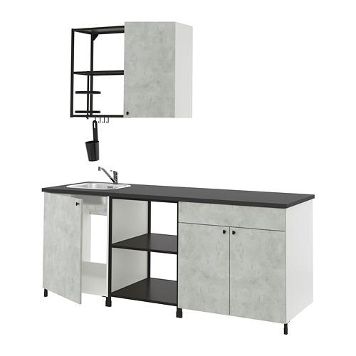 ENHET - 廚房, 炭黑色/仿混凝土   IKEA 香港及澳門 - PE818474_S4