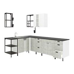 ENHET - corner kitchen, anthracite/concrete effect white | IKEA Hong Kong and Macau - PE818487_S3