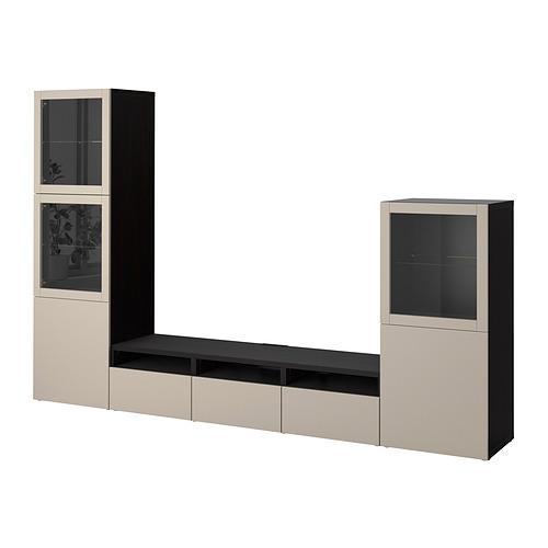 BESTÅ - 電視貯物組合/玻璃門, black-brown Sindvik/Lappviken light grey/beige | IKEA 香港及澳門 - PE818523_S4