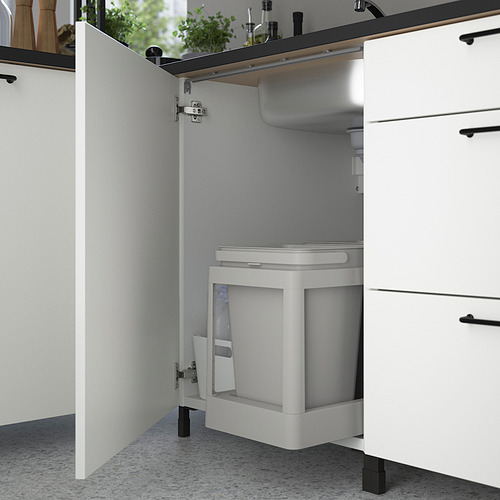 ENHET - 角位廚房, 炭黑色/白色   IKEA 香港及澳門 - PE818558_S4