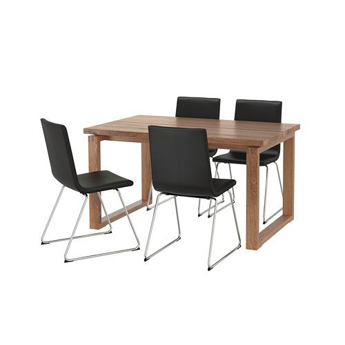 VOLFGANG/MÖRBYLÅNGA - table and 4 chairs, brown/Bomstad black   IKEA Hong Kong and Macau - PE673428_S4