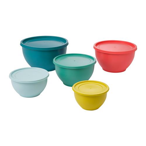 SOMMARDAG 連蓋碗,5件套裝