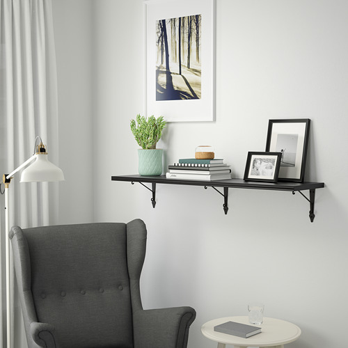 BERGSHULT/KROKSHULT - wall shelf, brown-black/anthracite | IKEA Hong Kong and Macau - PE764120_S4